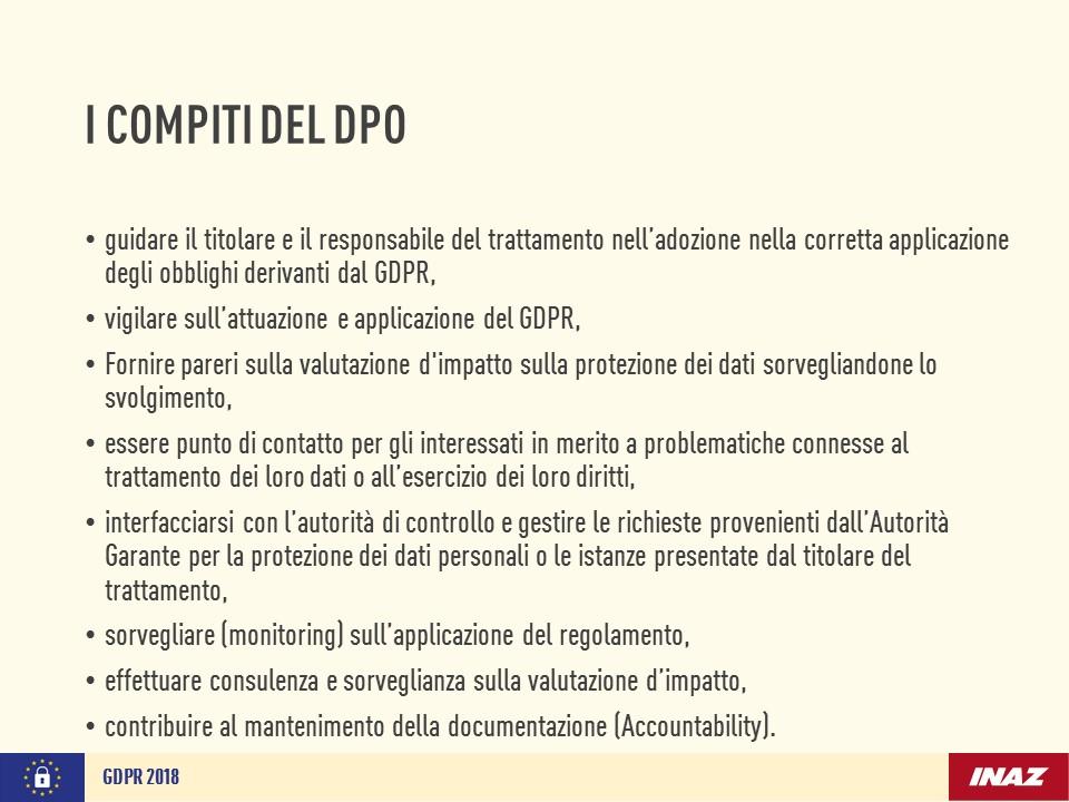 I compiti del DPO